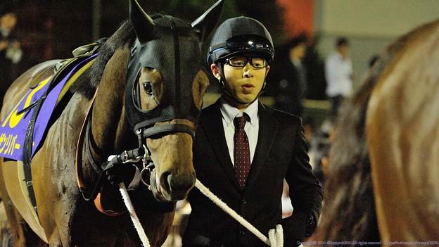 Photos: [140402大井11R東京スプリント]ノーザンリバー「ブレーヴキャンターさん早く行ってくれないかなぁ」