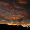 写真: 07,10,08打越山夕日