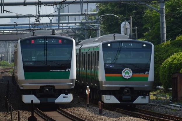 Photos: E233とE233