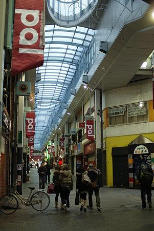 明け方の商店街
