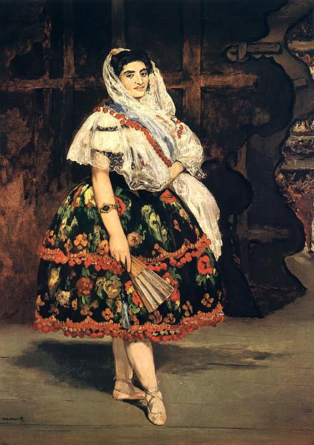 マネ-1862ローラ・ド・ヴァランス-ルーブル印象派美術館