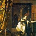 写真: フェルメール-信仰の寓意1671-74