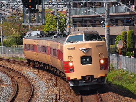 381系こうのとり回送 東海道本線サントリーカーブ