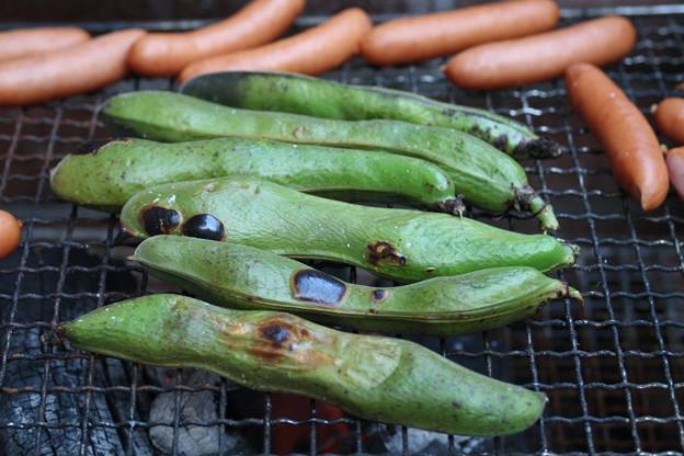 写真: 焼き空豆