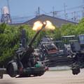 Photos: CIMG7033 大久保駐屯地創立記念行事その4・FH-70の砲炎