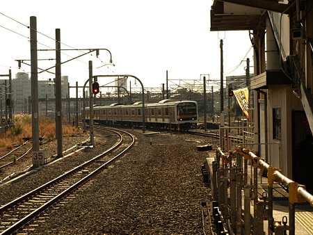 209系川越線(拝島駅)