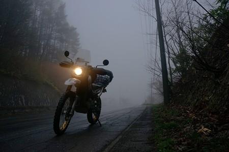 霧で見えない