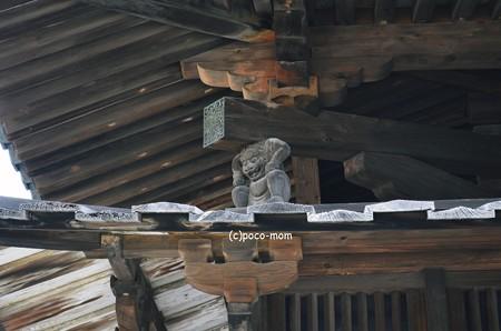 法隆寺五重塔支柱飾り 西北邪鬼2014年02月10日_DSC_0285