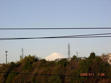 富士山(自宅近くから)