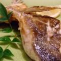 写真: カンパチのカマ塩焼き