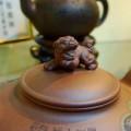 写真: 獅子の飾り付き