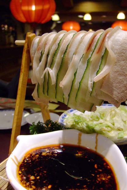 写真: 名物のliang杆白肉