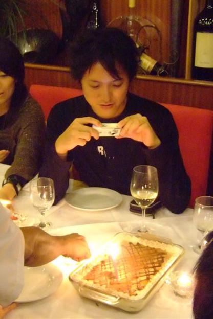 写真: バースデーケーキをパチリ☆