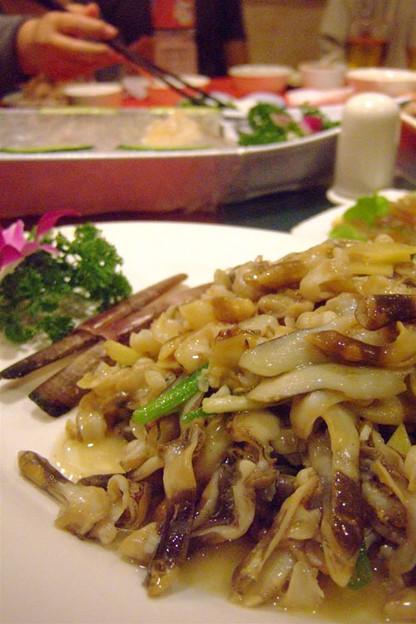 写真: 貝の炒め物