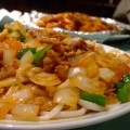 写真: 羊肉とトマトの拌麺
