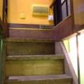 写真: 地下室への階段