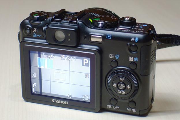 写真: PowerShot G7(背面)