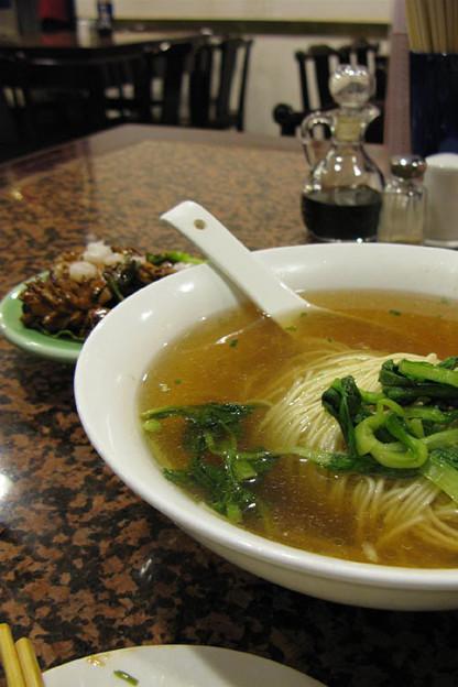 写真: 蝦仁腰花麺