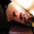 写真: レンガ調の壁