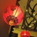 写真: 中華チックな正月飾り