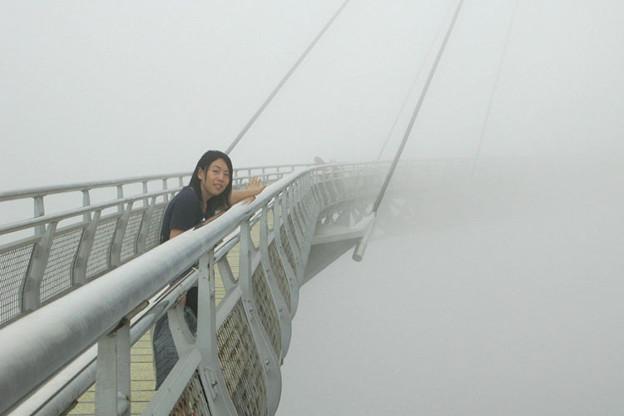 写真: 世界は白い霧に覆われていた