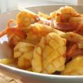 写真: イカと野菜のサンバル炒め