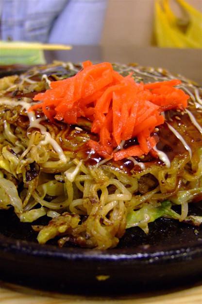 写真: 肉イカ玉+キムチ