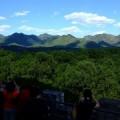 写真: 定陵から望む山々