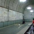 写真: トンネル工事のような印象