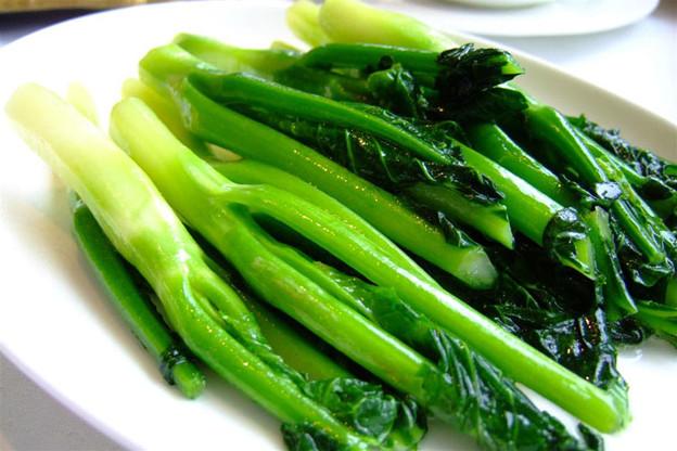 写真: 芥蘭の清炒は絶品