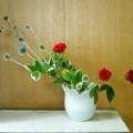 瑠璃玉はいいけど薔薇は大幅にお直し