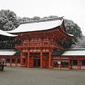 写真: 雪の日の下鴨神社B