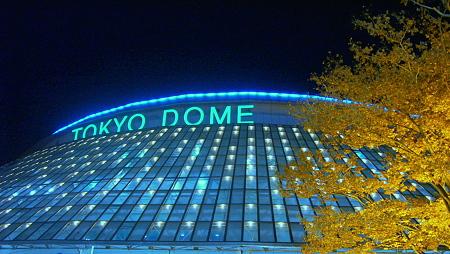 光る東京ドーム