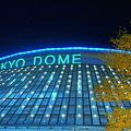 写真: 光る東京ドーム