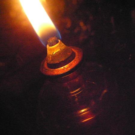 油絵ランプ
