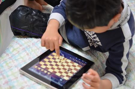 チェス遊び中