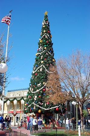 マジカルキングダムのクリスマスツリー