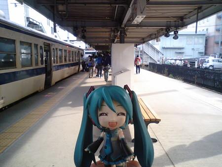 ミク:「熊本駅に到着、しんくんとはここでお別れします。ありがとう...