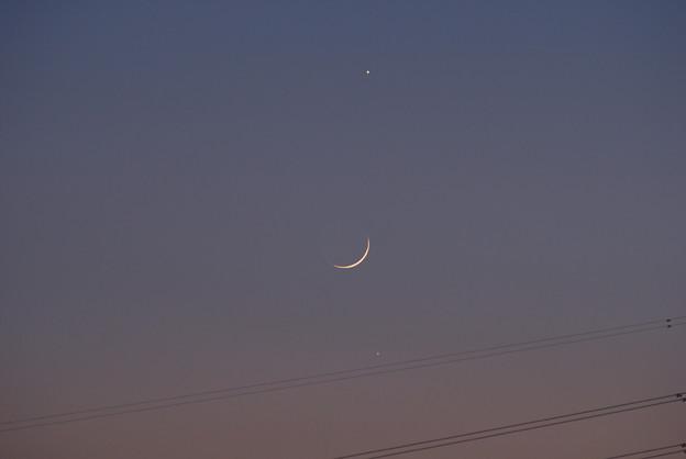 木星、月、水星 17:12 2008/12/29