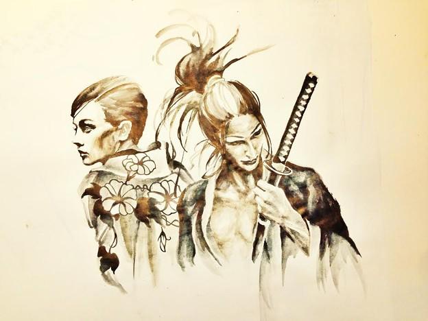 タトゥー 大阪 侍 水墨画刺青 タトゥースタジオ