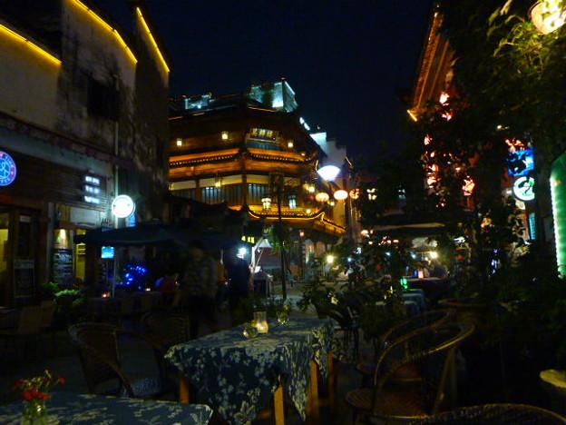 あら名残惜しの老街テラスThe last night in Old Town ,Tunxi