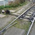 写真: 豊橋鉄道市内線・赤岩口車庫の手動ポイント