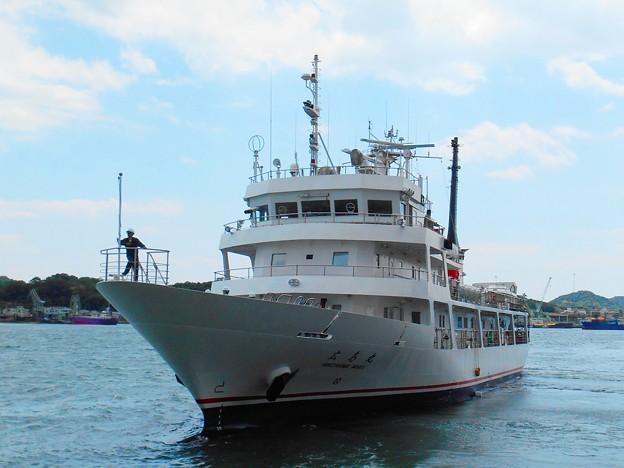練習船広島丸の離岸