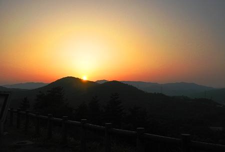 Photos: 展望台の夕日 in びんご運動公園