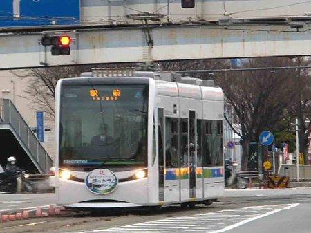 豊橋鉄道市内線LRV ほっトラム 平成20年12月19日(金) 営業運転1ケ月-210120-1