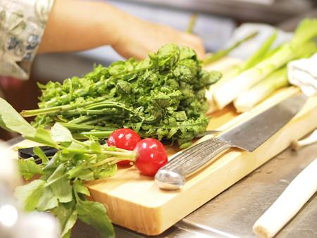 山菜とラディッシュ