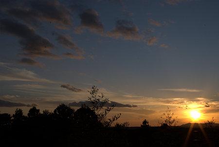 鳥羽の夕暮れ