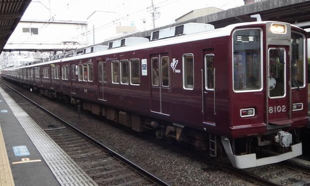阪急電鉄8000系 普通列車神戸三宮行き