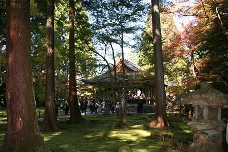開基は、伝教大師最澄上人で、延暦年間(782~806)の比叡山東塔の南谷に一乗止観院(後の延暦寺)を建てているが、併せて東谷に建てた円融房が三千院の起源とされている