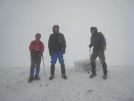 山頂での記念撮影
